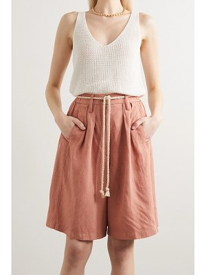 Forte Forte belted pleated canvas shorts