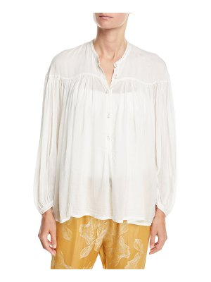 Forte Forte Bohemian Cotton-Silk Voile Button-Front Shirt