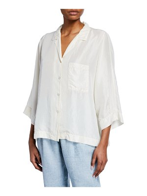 Forte Forte Button-Front Silk Habutai Shirt