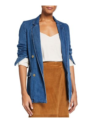 Forte Forte Calvary Double Breasted Cotton Denim Jacket
