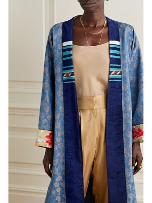 Forte Forte cha cha cha chenille and tweed-trimmed denim-jacquard jacket