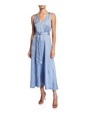 Forte Forte Chic Satin Belted Long Dress