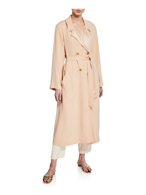 Forte Forte Crepe-Back Satin Trench Coat