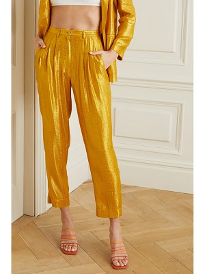 Forte Forte cropped metallic jacquard tapered pants