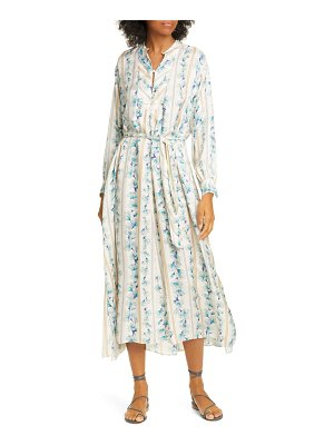 Forte Forte guadaloupe floral jacquard long sleeve maxi dress