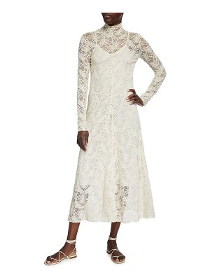 Forte Forte Long-Sleeve Stretch Lace Dress