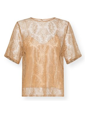Forte Forte Metallic Chantilly Lace Tee