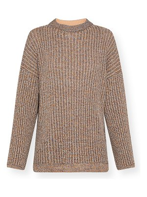 Forte Forte Metallic Wool Open-Back Sweater with Taping