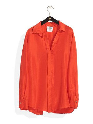 Forte Forte split back silk habotai shirt