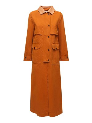 FORTE_FORTE Cotton canvas trench coat