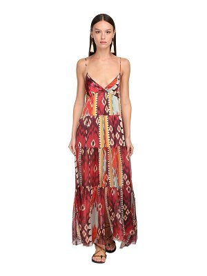 FORTE_FORTE Gazare printed voile long dress