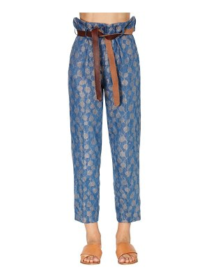FORTE_FORTE High waist jacquard straight leg pants
