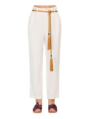 FORTE_FORTE High waist linen herringbone pants
