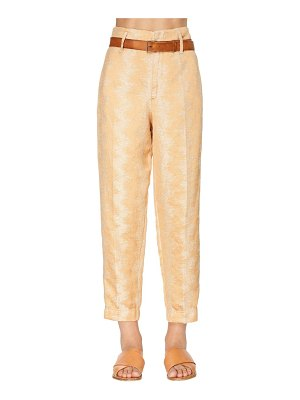 FORTE_FORTE High waist lurex jacquard pants