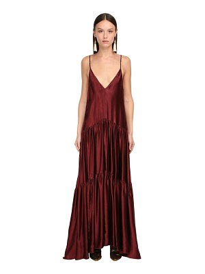 FORTE_FORTE Ruffled satin long dress