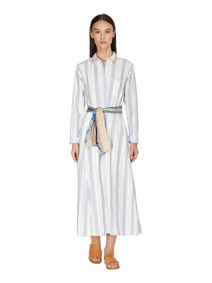FORTE_FORTE Striped cotton poplin shirt dress