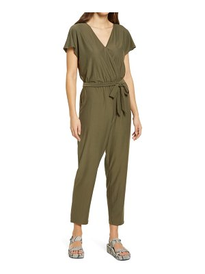 Fourteenth Place belted jersey jumpsuit