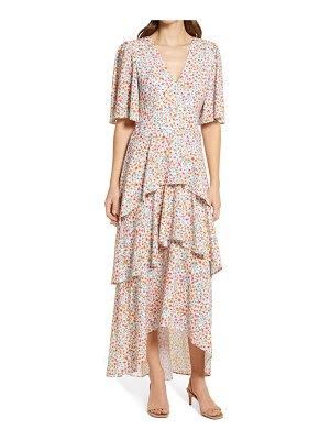 Fourteenth Place floral tiered high-low maxi dress