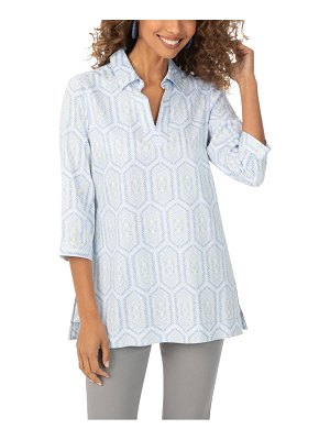 Foxcroft angel tile print tunic top
