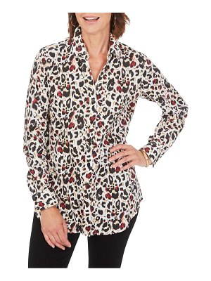 Foxcroft faith animal print blouse