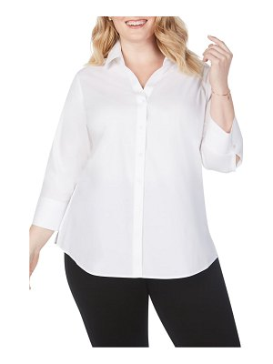 Foxcroft mary non-iron stretch cotton button-up shirt