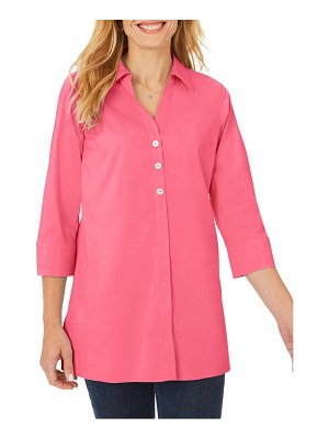 Foxcroft pamela stretch button-up tunic