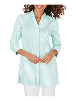 Foxcroft pamela stripe non-iron cotton blend tunic blouse
