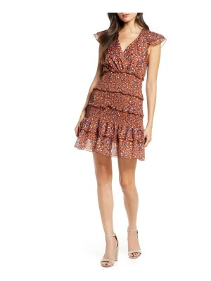 Foxiedox luna animal print tiered ruffle minidress