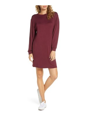 Fraiche by J long sleeve knit shift dress