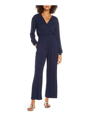 Fraiche by J long sleeve wide leg jumpsuit