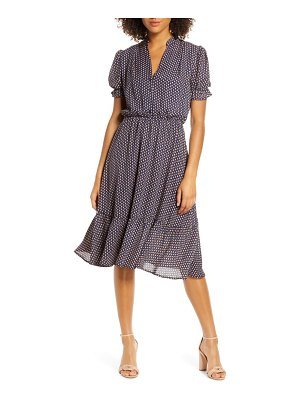 Fraiche by J puff sleeve midi dress
