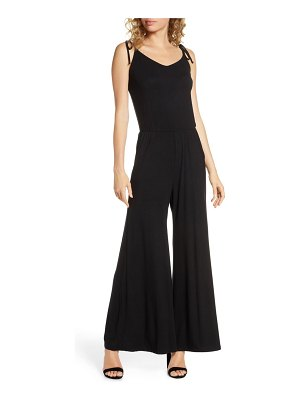 Fraiche by J sleeveless wide-leg jumpsuit