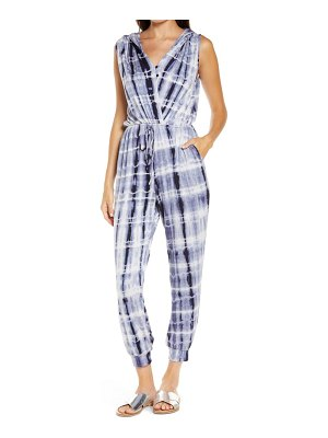 Fraiche by J tie dye hooded jumpsuit