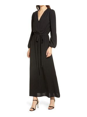 Fraiche by J wrap front long sleeve maxi dress