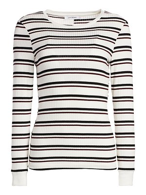 FRAME 70s striped long sleeve pullover