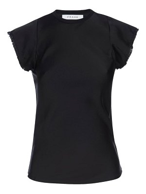 FRAME bias cut washable silk satin top