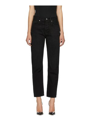 FRAME black le hollywood crop jeans
