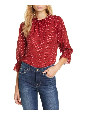 FRAME brooke heart print silk top