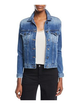 FRAME Button-Front Denim Jacket
