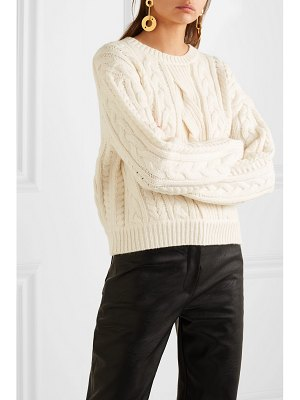 FRAME cable-knit wool-blend sweater - off-white