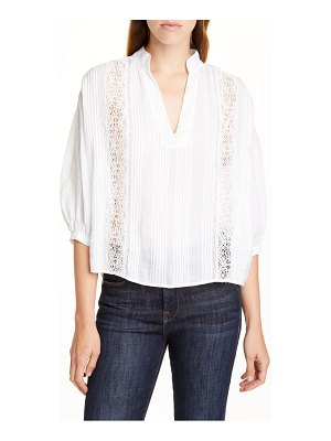 FRAME cali lace inset popover top