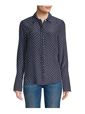 FRAME clean polka dot blouse