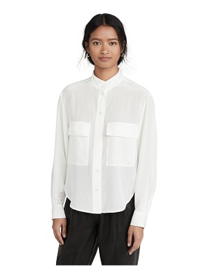 FRAME silk clean safari shirt