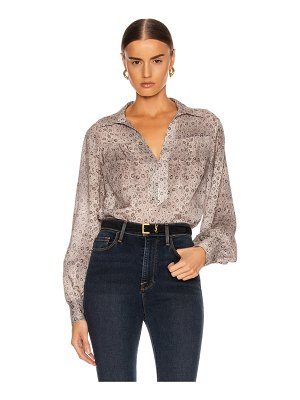 FRAME collared peasant top