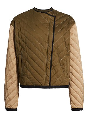 FRAME colorblock quilted cotton jacket