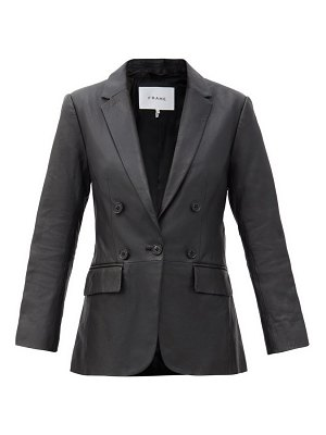 FRAME decorative double-breasted leather blazer
