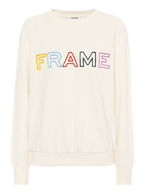 FRAME embroidered cotton sweatshirt