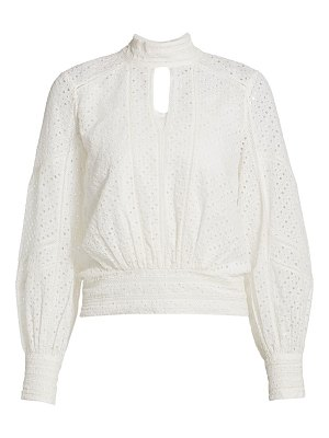 FRAME eyelet party top