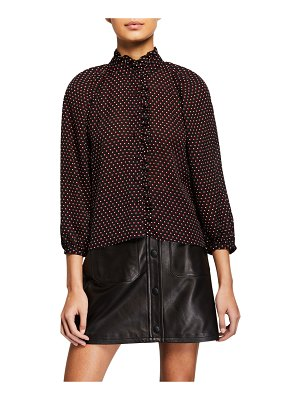 FRAME Grace Dotted-Silk Shirt