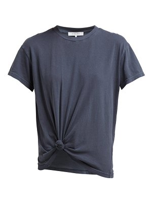 FRAME knotted cotton t shirt